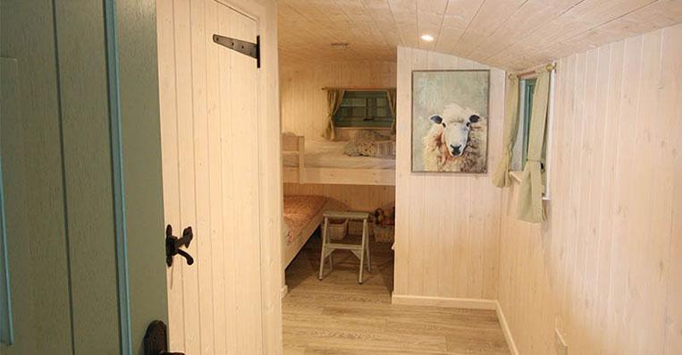 Inside a Shepherd Hut, Quality Accommodation in Suffolk